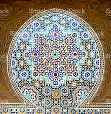 moroccan tile pattern marrakech morocco north africa stock photo
