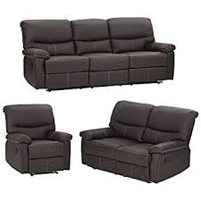 amazon com 3pc motion sofa loveseat recliner set living room