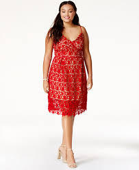 Red Cocktail Dress Plus Size City Chic Plus Size Trendy So Fancy Lace Dress Dresses Plus
