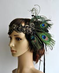peacock headband peacock dress peacock headband the great gatsby