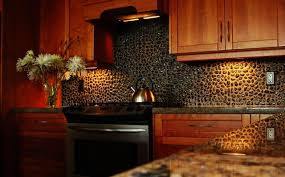 unique kitchen backsplash ideas with dark cabinet of kitchen