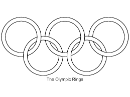 clip art olympic rings coloring page mycoloring free printable
