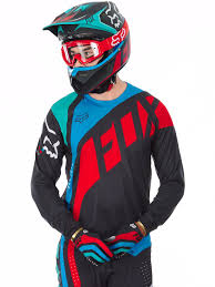 womens fox motocross gear fox grey red 2017 flexair seca mx jersey fox freestylextreme
