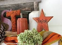 rustic fall mantel hoosier homemade