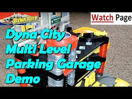 dynacity parking garage playset demo motormax youtube