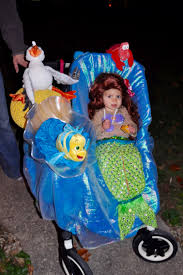 Ariel Costume Halloween Baby Ariel Costume Stroller Costume Flounder Sebastian Scuttle