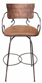 furniture traditional leather brown bar stools with backs