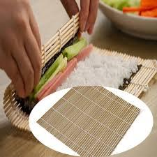 accessoire cuisine japonaise bambou rouleau de sushi roulant tapis japonais riz sushi maker