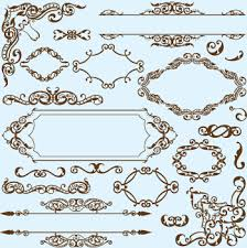 simple frame with borders and ornaments vector design 03 vector
