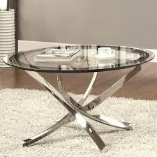 silver round coffee table rascalartsnyc