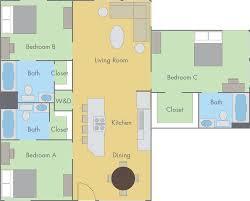Flooring Plan by The Colleges Floor Plan 2 Bedroom 2 Bathroom