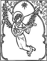 angel color pages 19 best christmas angel coloring page images on pinterest