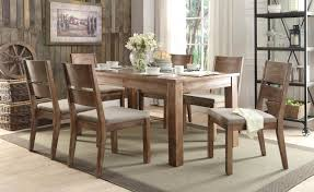Natural Wood Dining Room Table by Homelegance Marion Dining Set Tile Inset Natural Weathered