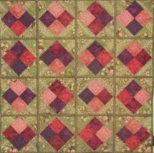 Home Patterns by Country Quilt Co Quilt As You Go 4 Patch Quilt Patterns