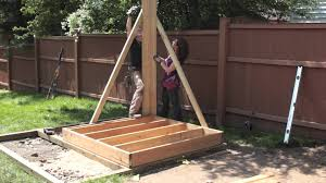 How To Build A Wooden Playset Myfixituplife Real Wood Real Fun Playset Edition Part I Youtube