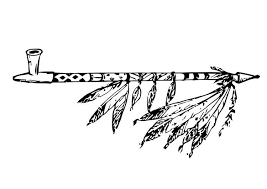 coloring pages of indian feathers coloring page peace pipe img 18756 indians pinterest pipes