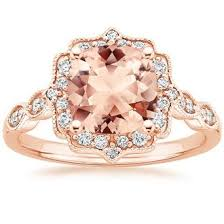 morganite ring gold morganite engagement rings brilliant earth