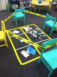stage a mystery in your library complete with a full crime scene
