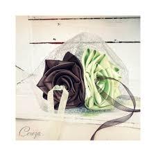 Porte Alliance Fleur Mariage Chocolat Anis Argent Porte Alliances Floral Personnalisé