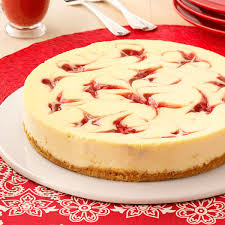 Lemon Cheesecake Decoration Strawberry Cheesecake Swirl Recipe Taste Of Home