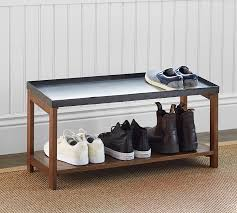 Pottery Barn Shoe Bench Project Organization Decor For Sorting Stashing And Storing