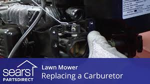replacing the carburetor on a lawn mower youtube