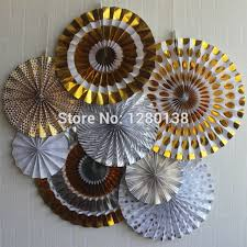Gold And Silver New Years Decorations by Aliexpress Com Buy Vintage Wedding Decorations Party Paper Fan
