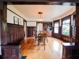 1911 period perfect craftsman bungalow living room realty