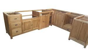 cuisine en bois meuble cuisine en bois brut de massif blanc et homewreckr co