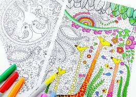 5 free coloring printables adults coloring