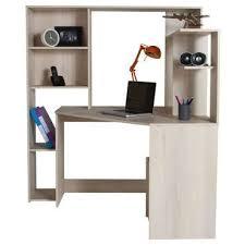 bureau pas large bureau d angle groove coloris acacia pas cher c est sur