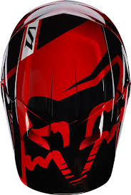 fox motocross helmet 2017 v1 race helmet red