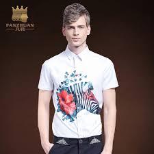 dress pattern brands fanzhuan featured brands men short sleeve shirt animal pattern print
