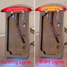 motorcycle license plate frame with led brake light motorcycle lighting indicators for husqvarna wr300 ebay