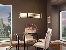 dining room table lighting kichler 42061cmz three light linear chandelier ceiling pendant
