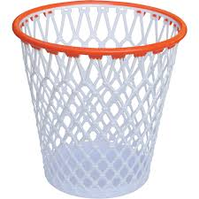 basketball halloween basket spalding hoopster wastepaper basket walmart com