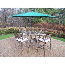 Patio Bar Height Table And Chairs Patio Furniture Bar Height Dining Set