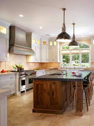 White Island Kitchen Walnut Island With Soapstone White Perimeter Cabinets Photos
