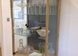 Curio Cabinet Ikea by Our New China Cabinet Set Up Ikea Hemnes Glass Door Cabinet Yeo Lab