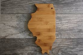 State Shaped Gifts Illinois Shaped Cutting Board Our Cutting Board