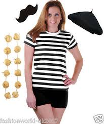 deluxe mens complete french man stag night waiter fancy dress