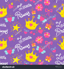 little princess pattern vector cute stock vector 570732442