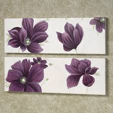 Purple And Grey Bedroom by Floral Whispers Canvas Wall Art Set Canvases Purple And Floral