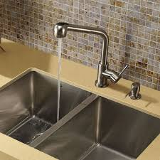 kitchen faucet soap dispenser vigo avondale single handle pull out spray kitchen faucet with