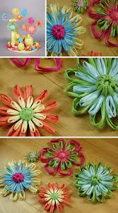 Flowers For Crafts - raffia flowers for mother u0027s day kiddo activities pinterest
