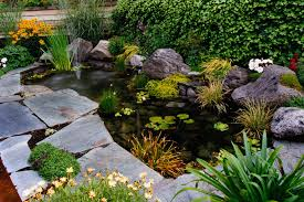 lawn u0026 garden medium rectangular fish pond design and stone