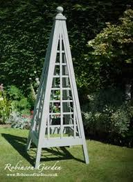 oak spire obelisk with copper trellis 240cm high and crafted