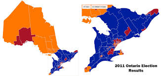 Map Of Election Results by Ontario Political Forum
