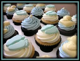baby shower cupcakes boy ideas ecupcakes baby boy shower cupcakes