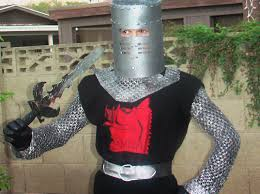 Halloween Knight Costume Soda Tab Monty Python Black Knight Costume Green Halloween Contest